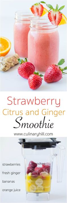 Paleo Strawberry Citrus & Ginger Smoothie Recipe
