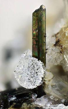 Pyroxene, Phillipsite. Graulay, Hillesheim, Eifel, Rhineland-Palatinate, Germany Taille=2.02 mm Collection et photo Matteo Chinellato