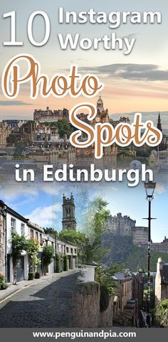 Looking for the most Instagram Worthy Photo Spots in Edinburgh, Scotland? We share with you our favorite photography places to take beautiful photos in the Scottish capital. #edinburgh #scotland #photography #photospots