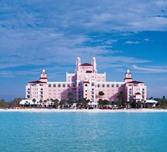 I was in love with The Don Cesar Hotel & Resort in St. Petersburg, FL as a kid. Big and all PINK.