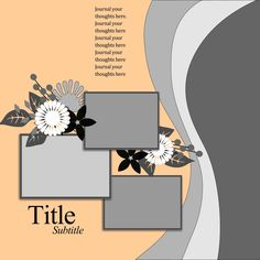 Ideas for Scrapbookers: A template with vertical Waves!