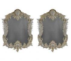 Pair Of Large Painted Irish Mirrors