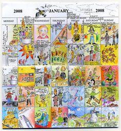 personal calendar; sketches; art; altered art #altered art #calendar #art
