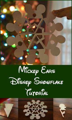 Mickey Ears Disney snowflake craft tutorial