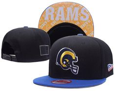 ab8adc899ea8e3 Men's St. Louis Rams New Era 9Fifty NFL Crafted in America Snapback Hat -  Black