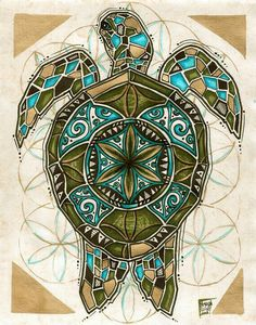 On a turtle 39 s back this is one native american creation for Polynesian tattoo near me