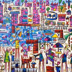 """""""Sparkle Water Day"""" 122cm x 142cm. For more information please contact REDSEA Gallery on (07) 3162 2230 © Bruce Earles"""