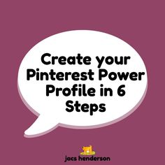 "♥️︎ Create Your PINTEREST POWER PROFILE in 6 EASY STEPS  Hello! My Pinterest tips for this week are about setting up a Powerful profile. If you have questions … ask them below 😊  Like all aspects of business. laying the correct foundations from the beginning, enables you to build a strong and stable structure on top.  So, I suggest you follow these 6 steps to your Pinterest ""Power Profile"" … to create an account that sets you up for Success by setting down those strong foundations."