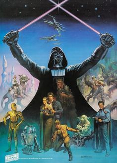 First of four designs created by Boris Vallejo for the Coca-Cola poster promotion ofThe Empire Strikes Back, 1980.