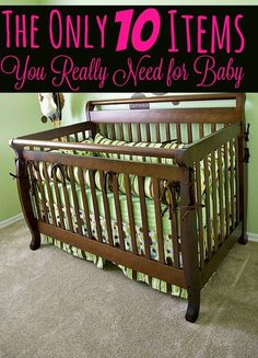 Having a baby on a budget? Don't go on a shopping spree yet! These 10 Items are the ONLY ones that your baby truly needs!