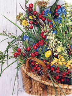 These beautiful flowers and cranberries were sitting in a spectacular Nantucket basket in the doorway of a shop in...you guessed it - Nantucket,