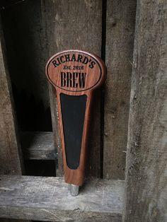 Personalized Beer Tap Handle Kegerator handle Home by MVwoodworks