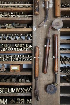 Letter press tools - I would love these. Truth be told I would love any tools of this vintage, for any craft or art. S