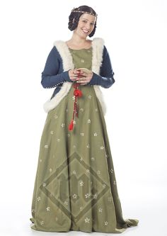 14th century sideless surcoat with fur trim
