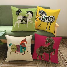 Vintage European style Photo pillow decorative cushion covers for sofa pillow case Animal horse pillowcase cushions decor. Subcategory: Home Textile. Cushion Cover Designs, Cushion Covers, Pillow Covers, Pillow Cover Design, Couch Covers, Photo Pillows, Sofa Pillows, Sofa Chair, Chair Cushions