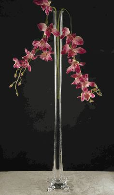 Tall Vases Birch Tree Branch Silhouette 5x24 Quot Glass