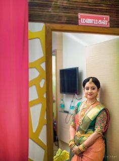 South Indian Wedding Saree, Indian Wedding Outfits, Saree Wedding, Indian Outfits, Wedding Saree Blouse Designs, Bride Portrait, Saree Trends, Wedding Costumes, Indian Sarees