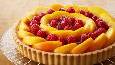 Receta | Tarta de melocotón y frambuesas (Peach raspberry custard tart) - canalcocina.es