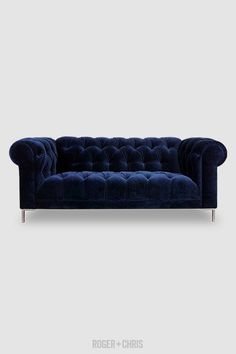 81 Modern Chesterfield Velvet Sofa Available In Nine Standard Lengths Three Seat Depths