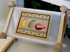 Pear Trio Needlepoint Pattern and Instructions