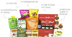 Love With Food: Monthly Box with Organic & Natural Snacks - Each Box Donates 1 Meal to Hungry Children in US