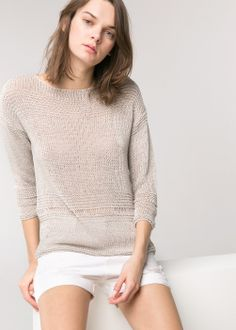Ribbed sweater - Love this look! From Mango Funky Outfits, Fashion Outfits, Vintage Crochet Patterns, Summer Knitting, Knit Picks, Knitting Accessories, Ribbed Sweater, Complete Outfits, Sweater Fashion