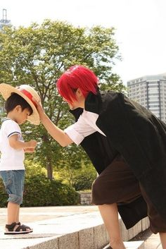 Shanks and Luffy #one piece
