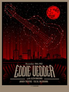 INSIDE THE ROCK POSTER FRAME BLOG: Munk One Eddie Vedder Orlando, Tulsa and Memphis posters on sale