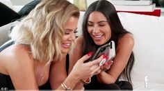 Funny smiles: The reality TV ladies can't contain their laughter when they describe the perfect guy for Kourtney