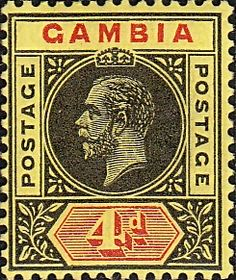 Gambia 1912 King George V SG 92a Fine Mint SG 92a Scott 76 Other British Commonwealth Stamps for Sale Here