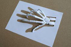 Skeleton Art, Paper Sculptures by Peter Callesen - artsnapper