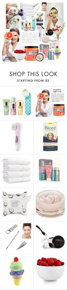 """""""face cleanser"""" by iwuv5sos35 ❤ liked on Polyvore featuring beauty, Joanna Vargas, Clinique, Conair, Sephora Collection, Oskia, philosophy, The Cellar and facemasks"""