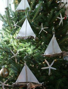 Driftwood Sailboat Ornaments