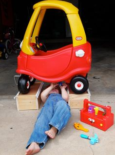 Car Troubles by STL Okie.This reminds me of my grandsons. they used to crawl under anything to fix it. Love this pic! Toddler Photography, Newborn Photography, Family Photography, Indoor Photography, Photography Ideas, Toddler Pictures, Boy Pictures, Baby Boy Photos, Newborn Photos