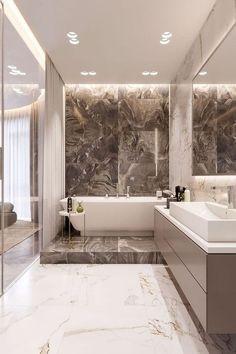 ✔56 stunning modern bathroom design for your hou... - #bathroom #design #hou #marbre #Modern #Stunning