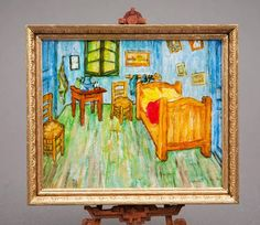 Good Sam Showcase of Miniatures: Jo Meyer: Friday Workshop, Original Paintings, Furniture & Accessories (great miniature painting depicting Van Gogh's Bedroom in Arles)