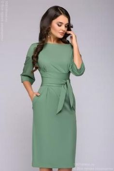 fashion dresses Fall Outfits For Work Dresses in a Budget, Casual work dresses, summer and winter work dress outfits, professional work dresses. Office Dresses For Women, Trendy Dresses, Dresses For Work, Dresses Dresses, Mode Outfits, Dress Outfits, Fashion Outfits, Office Outfits, Robes Glamour