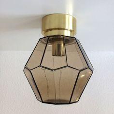 Teak Wood Table Lamp Danish Style Mid Century 1960s With Original
