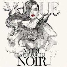 Mustafa Soydan fashion illustrator for Paris Vogue cover Vogue Magazine Covers, Vogue Covers, Vogue Paris, Creative Illustration, Illustration Art, Magazin Covers, Paris Mode, Fashion Figures, Anna Wintour