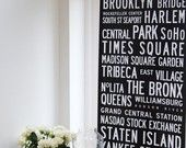 Best of New York, XL Banner print with subway