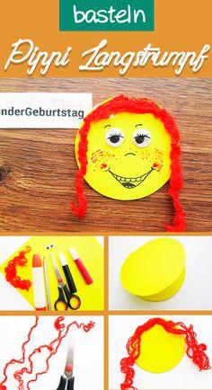 DIY Basteln zum Thema Pippi Langstrumpf mit Kindern: Bastelidee für Pippi-Langstrumpf-Kindergeburtstag. Pippi Longstocking, Bullet Journal 2020, Partys, Pikachu, Diy And Crafts, Crochet Hats, Character, Mardi Gras, Meet