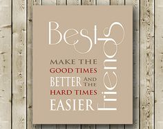 Gift for Best Friend Birthday Gift Gift for by moonlightgraphics, $13.00