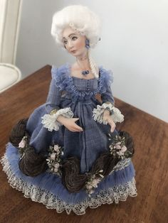 Dollhouse Miniature Victorian Doll #Unbranded