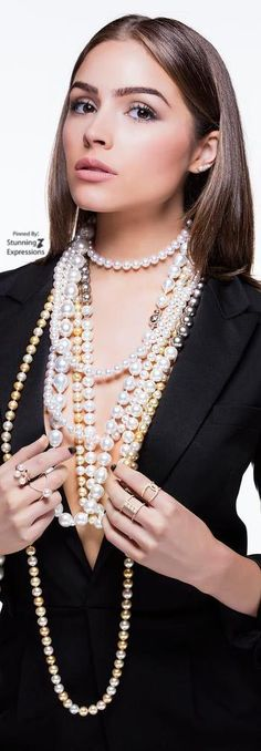Olivia Culpo for Imperial Pearls Pearl Beads, Pearl Jewelry, Pearl Necklace, Jewelery, Sexy Librarian, Pearl Boutique, Olivia Culpo, Pearl And Lace, Lace Ribbon