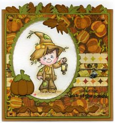 C.C. Designs Roberto's Rascals Scarecrow Henry, AmyR Stamps Autumn Sentiments, C.C. Cutters Ovals #1 Die, C.C. Cutters Scalloped Ovals Die, C.C. Cutters Pumpkins Die, C.C. Cutters Make A Card #9 Autumn Die