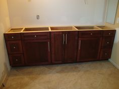Photo On bathroom vanities and cabinets Cabinet Creations Archived Bathroom Vanities Stained maple