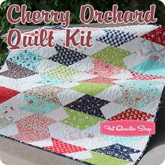 Cherry Orchard Quilt Kit<br/>Featuring Vintage Picnic by Bonnie