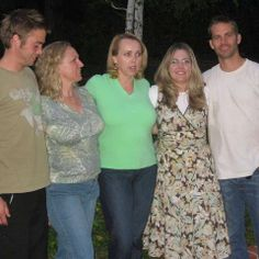 Paul Walker with his sister, Ashlie (with the glasses), and two others that are half sisters (from a relation Paul's father had before he was with Paul mother) and brother.