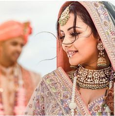 Brides think of having the ideal wedding ceremony, however for this they need the perfect bridal gown, with the bridesmaid's outfits actually complimenting the wedding brides dress. Here are a number of tips on wedding dresses. Save Money Wedding Tips. Indian Bridal Makeup, Indian Bridal Fashion, Wedding Poses, Wedding Tips, Wedding Outfits, Wedding Ceremony, Dream Wedding, Wedding Shoot, Perfect Wedding