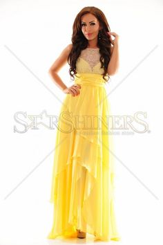 Royal Crossing Yellow Dress Prom Dresses, Formal Dresses, Summer Trends, Yellow Dress, Colorful Fashion, Summer Outfits, Pattern, Shopping, Collection